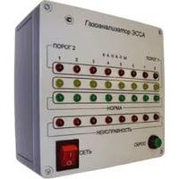 Стационарный газосигнализатор  ЭССА-NH3-3 (три порога 12 каналов,12 преобразователей)